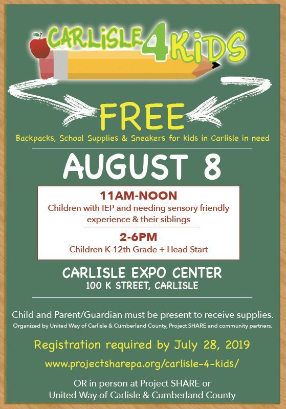 Carlisle4Kids School and Sneakers Event
